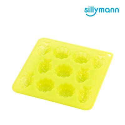 【韓國sillymann】100%鉑金矽膠餅乾/糕點烘焙模具(烤箱/氣炸鍋/微波爐/電鍋專用)-透明綠