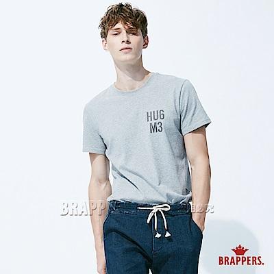 BRAPPERS 男款 HUG ME印花基本短袖T恤-灰
