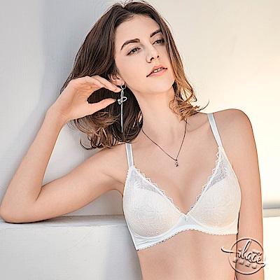 LADY 花影情挑系列 蕾絲深線內衣 B-E罩(浪漫白)