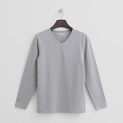 Hang Ten - 男裝 - ThermoContro系列-柔軟保暖V領上衣-灰
