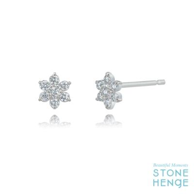 STONEHENGE 斯通亨奇 純銀花朵造型鋯石耳飾