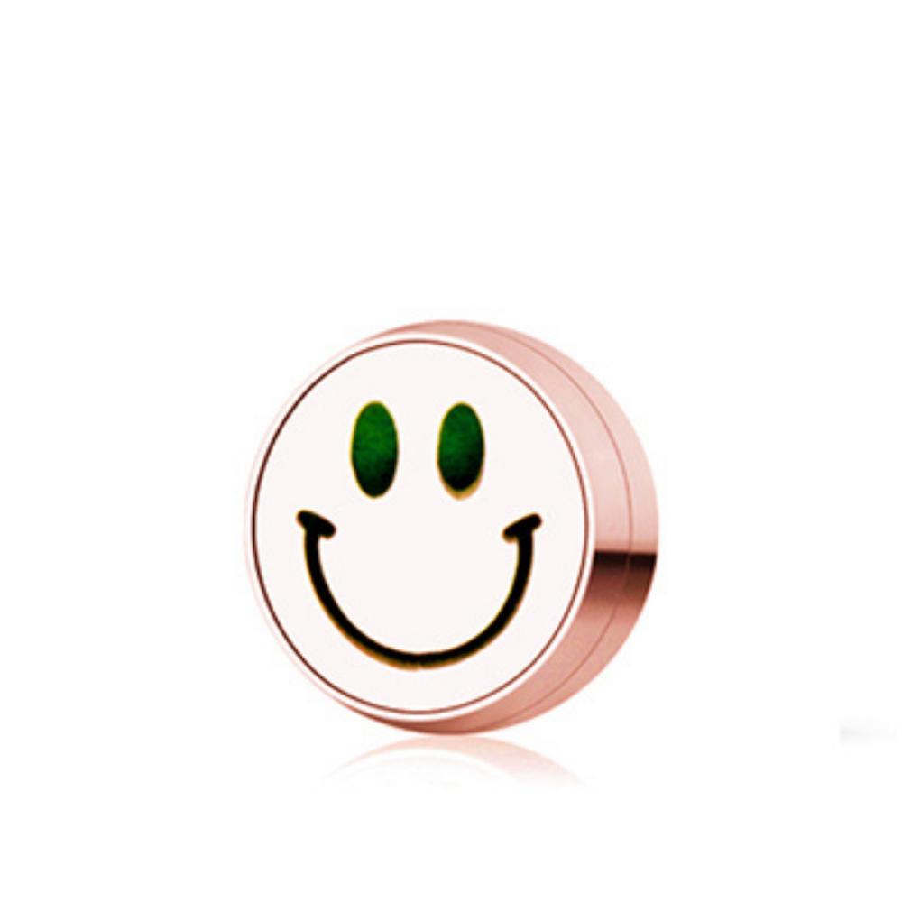 鈦鋼口罩薰香磁扣 玫瑰金 保持微笑