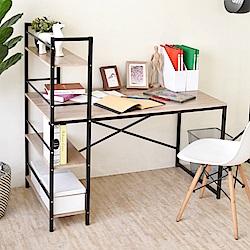 《HOPMA》DIY巧收加深款層架工作桌-寬120 x深64 x高120cm