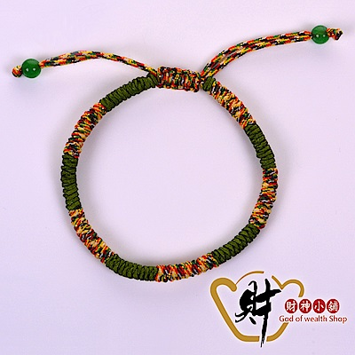 財神小舖 手工五色線手鍊 健康綠 (含開光) SL9214