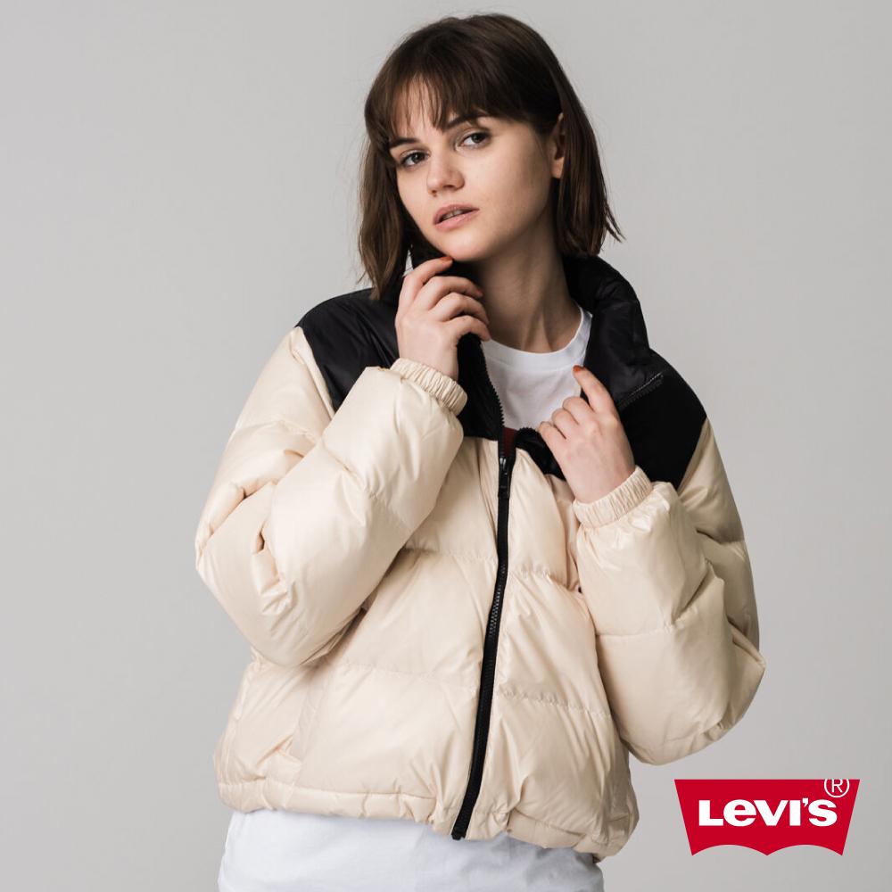 Levis 女款 中短版防潑水羽絨外套 /600FP /百分之80白鴨絨填充