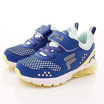 FILA頂級童鞋 氣墊機能運動款 FO22T-394藍(中小童段)