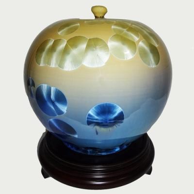 12 inch聚寶盆 圓滿甕 聚寶罐 結晶釉瓷器