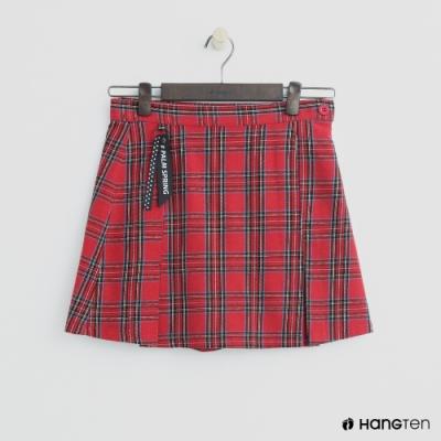 Hang Ten-童裝-格紋亮眼休閒短裙-紅