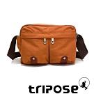 tripose MOVE系列多格層機能斜背包 鮮橙橘