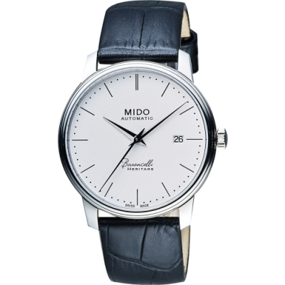 MIDO Baroncelli III Heritage 復刻經典機械腕錶-白/41mm