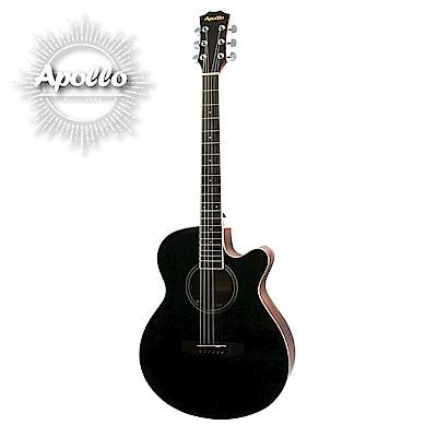 APOLLO A2-OMC 缺角民謠吉他 經典曜岩黑色款