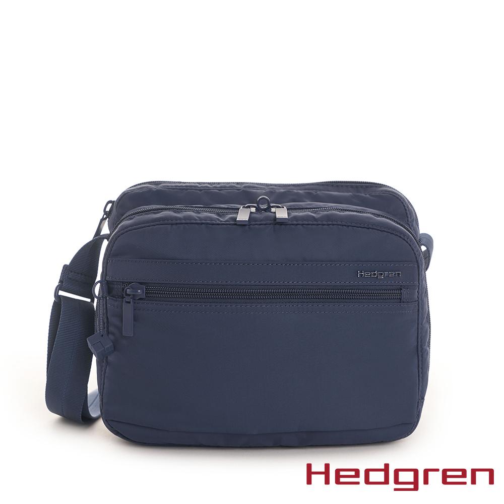 【Hedgren】藍多層收納斜背包 - HIC226 METRO