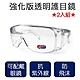 DF 生活館 - 防疫護目鏡2入組 透明防止飛沫護目鏡 戴眼鏡可用 product thumbnail 2