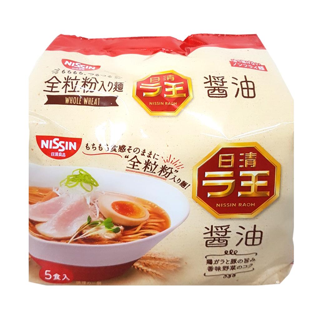日清 全麥5食袋裝麵-醬油味(510g)