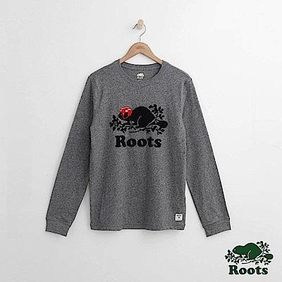 Roots 男裝- 庫柏曲棍球長袖T恤-灰