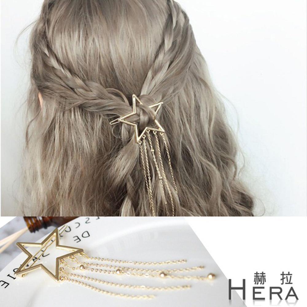 Hera 赫拉 鏤空五角星流蘇髮夾