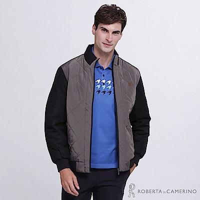 ROBERTA諾貝達 帥氣型男 內裡鋪棉夾克外套 深棕