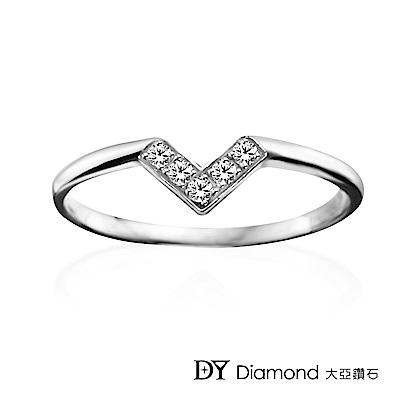 DY Diamond 大亞鑽石 L.Y.A輕珠寶 18K白金 心戀 鑽石線戒