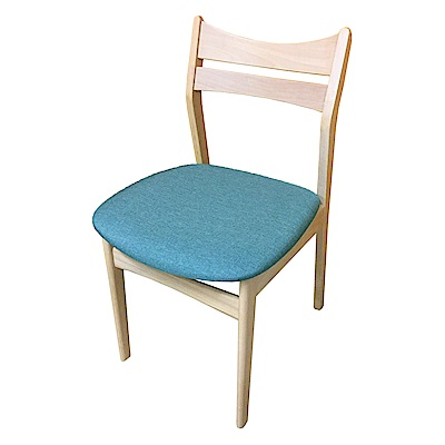 AS-Hedy綠布實木餐椅-45x48x76cm