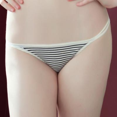 推EASY SHOP-夏日裸肌 無痕款低腰三角褲(黑白條紋)
