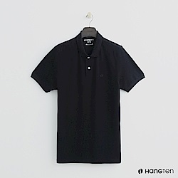 Hang Ten - 男裝 - 簡約素面POLO杉 - 黑
