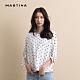 【MASTINA】氣質點點綁結袖口-上衣(白色) product thumbnail 1