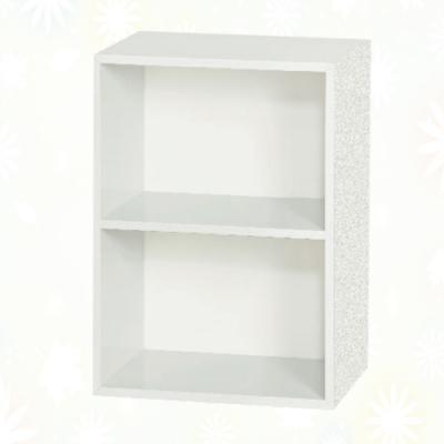 文創集 麥克 環保1.4尺南亞塑鋼開放二格置物櫃/收納櫃-43.4x31x60.7cm免組