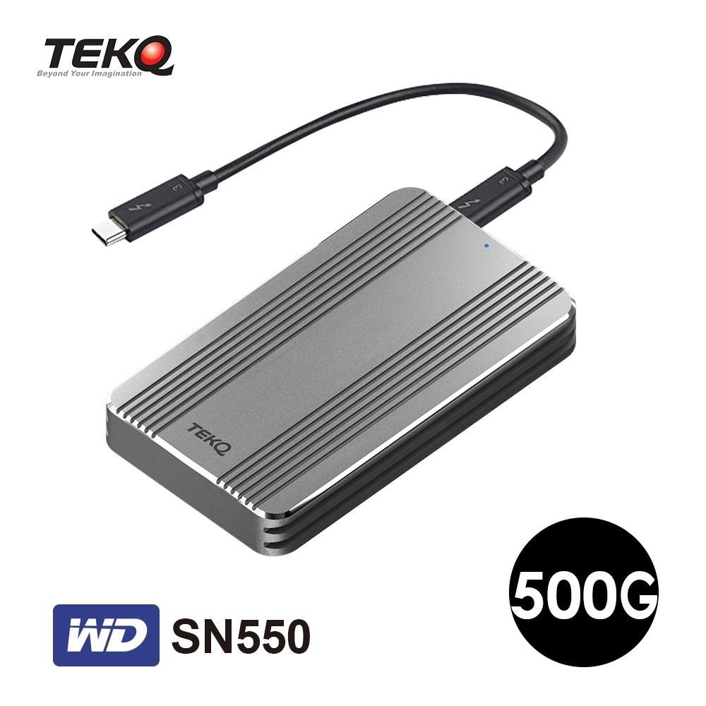 TEKQ Rapide WD SN550 500G Thunderbolt 3 PCIe Gen3X4 外接式 SSD 行動固態硬碟