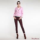 KeyWear奇威名品    浪漫法式合身西裝外套-粉紅色