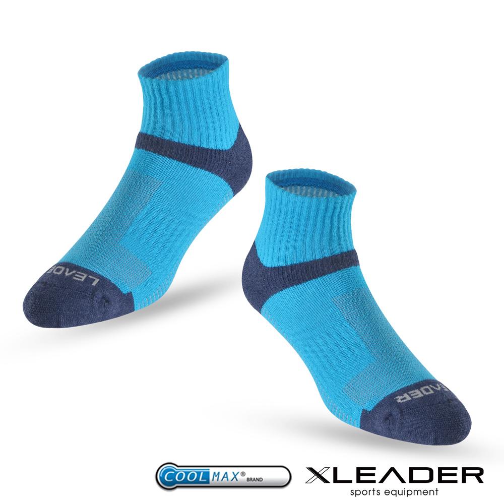 LEADER ST-06 Coolmax專業排汗除臭 機能運動襪 男款 亮藍 - 急