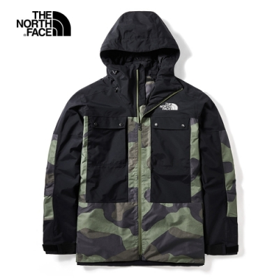 The North Face 男 防潑水衝鋒衣 綠 NF0A3LZ9G2Y