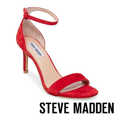 STEVE MADDEN-FAME 一字高跟涼鞋-紅色