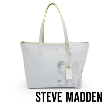 STEVE MADDEN-BDEMI 簡約率性LOGO簍空設計托特包-灰色