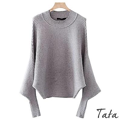寬鬆蝙蝠袖針織上衣 共二色 TATA