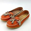 KEITH-WILL時尚鞋館 (現貨+預購) 俏皮撞色流蘇造型真皮鞋-橘