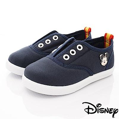 迪士尼童鞋 米奇帆布休閒款 ON19109藍(中小童段)
