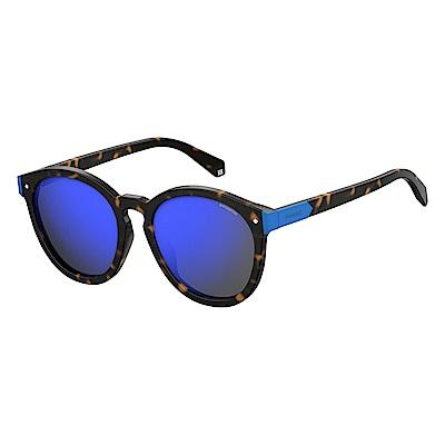 Polaroid PLD 6034/F/S-潮流圓框太陽眼鏡 藍色