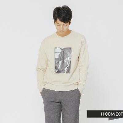 H:CONNECT 韓國品牌 男裝-復古個性圖像上衣-米色(快)