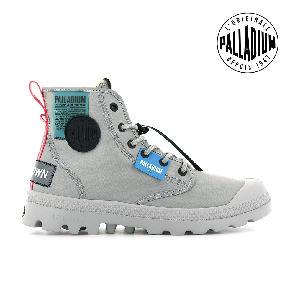 PALLADIUM PAMPA LITE OVB NEON輕量標籤軍靴-中性-灰