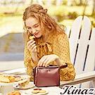 KINAZ 甜蜜約會兩用斜背口金包-醋栗紅-森林午茶系列