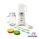 義大利Mama Cook小資蔬活隨行果汁機雙杯組附斜口蓋、密口蓋、吸管蓋*2、吸管*2