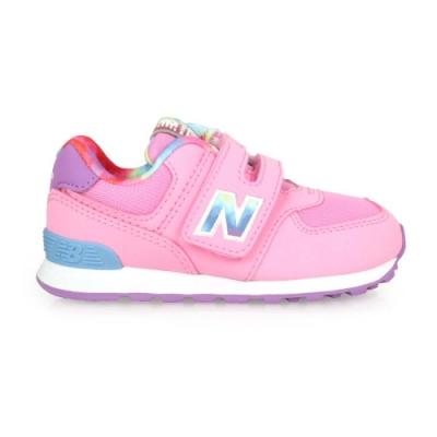 NEWBALANCE 男女小童復古慢跑鞋-WIDE-NB N字鞋 574系列 IV574TDP 粉紅藍紫