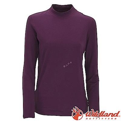 Wildland 荒野 W2651-79深紫 女遠紅外線保暖中領衛生衣