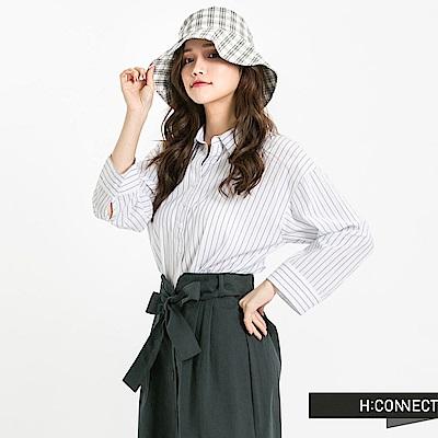 H:CONNECT 韓國品牌 女裝 - 單排釦七分袖襯衫-米白