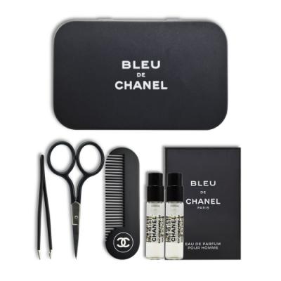 CHANEL 香奈兒 藍色男性修容組+藍色男性香水 EDP 1.5mlx2入