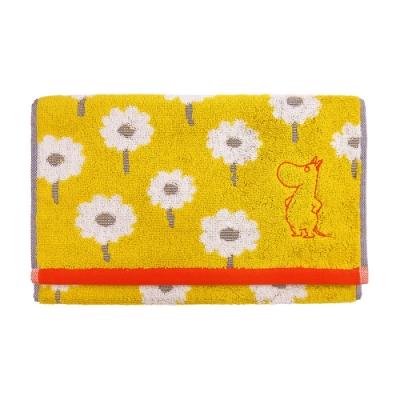 日本丸真 Moomin 嚕嚕米葡萄牙製刺繡毛巾-嚕嚕米看花