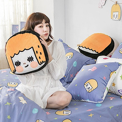 戀家小舖 / 雙人加大床包被套組  MORITA 的閃閃星空  100%精梳棉  台灣製