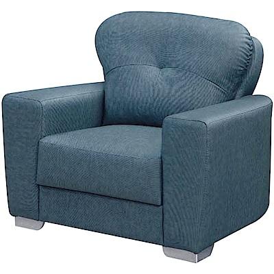 綠活居 耶魯時尚耐磨貓抓皮革單人座沙發椅-83x85x90cm免組