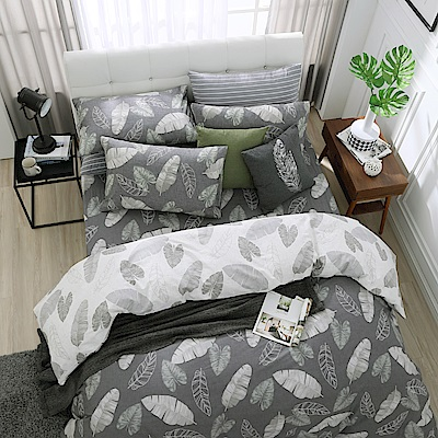 鴻宇 100%精梳棉 舞葉知秋 雙人加大床包枕套三件組