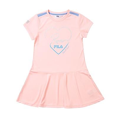 FILA KIDS 抗UV吸濕排汗洋裝-粉紅 5DRT-4324-PK